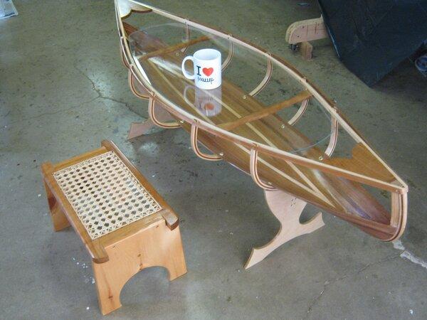 Canoe Glass Table